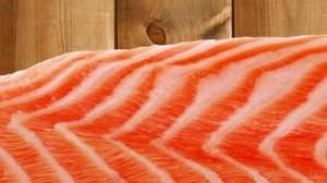 Cedar plank raw salmon
