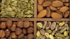 Hazelnuts, pumpkin seeds, almonds